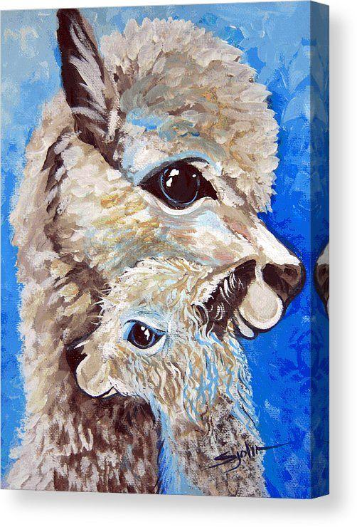 River Ridge alpaca Canvas Print / Canvas Art by Patty Sjolin
