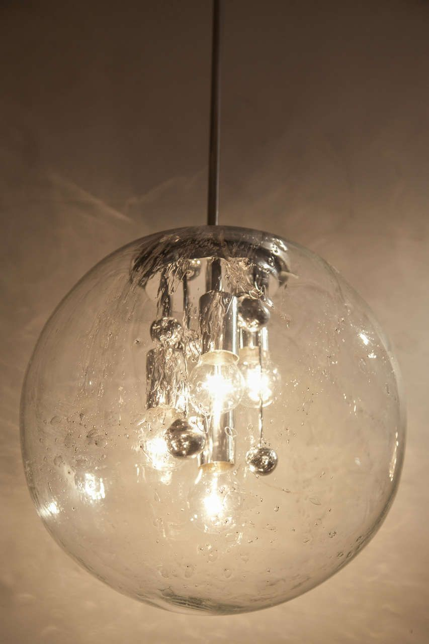Extra Large Glass Globe Pendant By Doria Glass Globe Pendant
