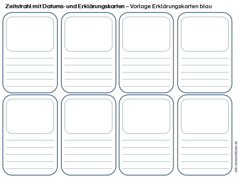 Zeitstrahl Mit Datums Und Erklaerungskarten Vorlage Zeitstrahl Zeitleiste Karten