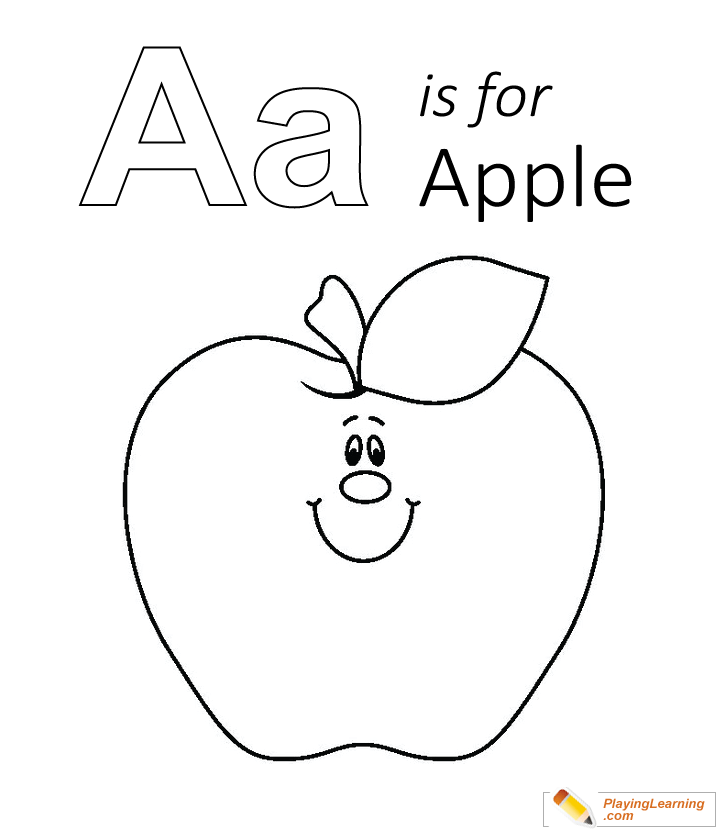 A Is For Apple Coloring Page For Kids Apple Coloring Pages Coloring Pages Apple Coloring