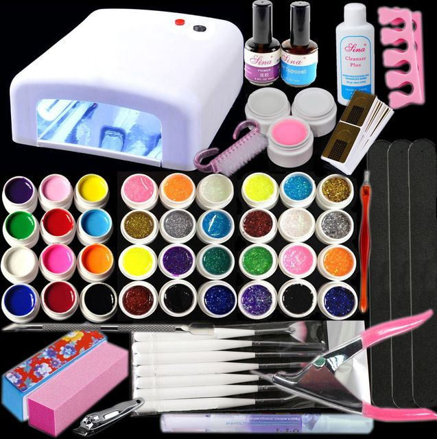 UC-141 New Pro 36W UV Lamp 36 Color UV Gel Nail Art Tools Sets Kits ...