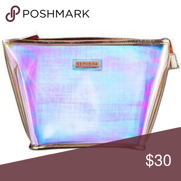Sephora Rose Gold Holographic Makeup Bag NWT Holographic