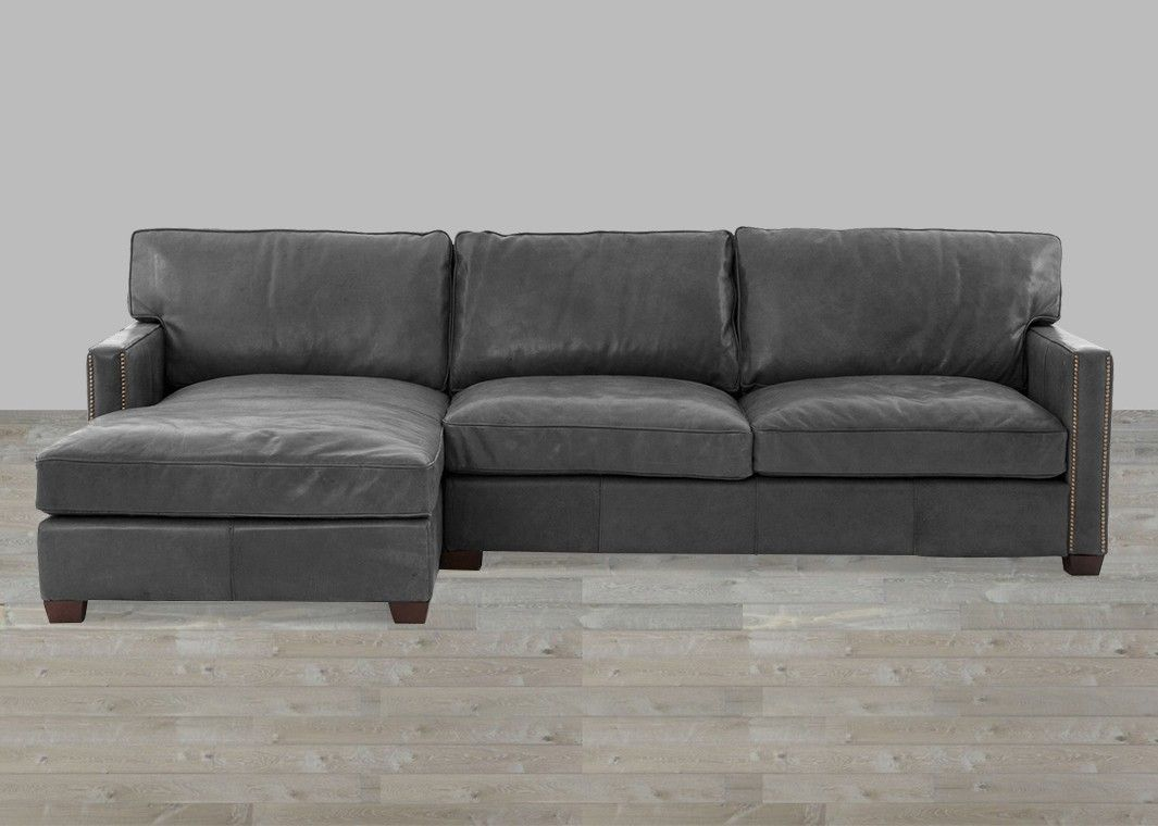 Rider Black Top Grain Leather 2 Piece Sectional With Left Arm Facing Chaise Top Grain Leather Sectional Leather Sectional Leather Sectional Sofa