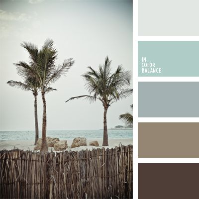 Natural blend of cold shades of blue and brown make for a translucent pastel palette of the ocean coast. This color scheme can be used to design bedrooms, living rooms or study-libraries. This color solution can be used for exteriors of a country house or a balcony in a city apartment.