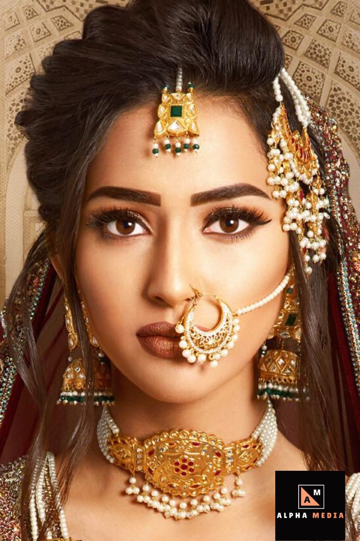 Bridal Nose Ring Bridal Earrings Drop Bridal Nose Ring Bride Jewellery