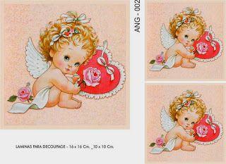 LAMINAS PARA DECOUPAGE DECOPAPER: ANGELITOS
