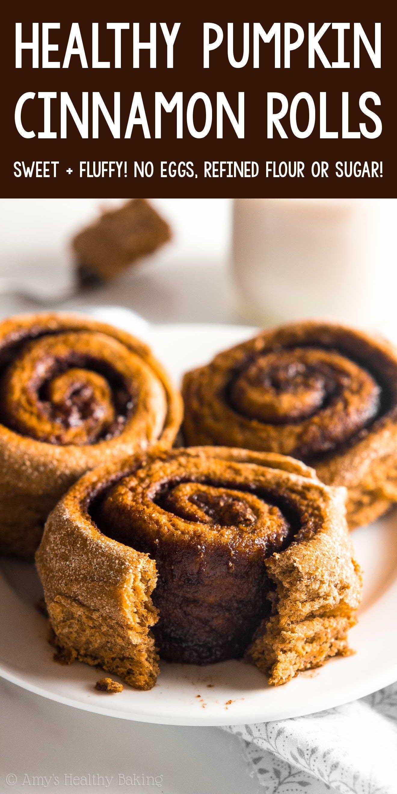 The Ultimate Healthy Pumpkin Cinnamon Rolls In 2020 Healthy Pumpkin Dessert Vegan Pumpkin Recipes Healthy Baking