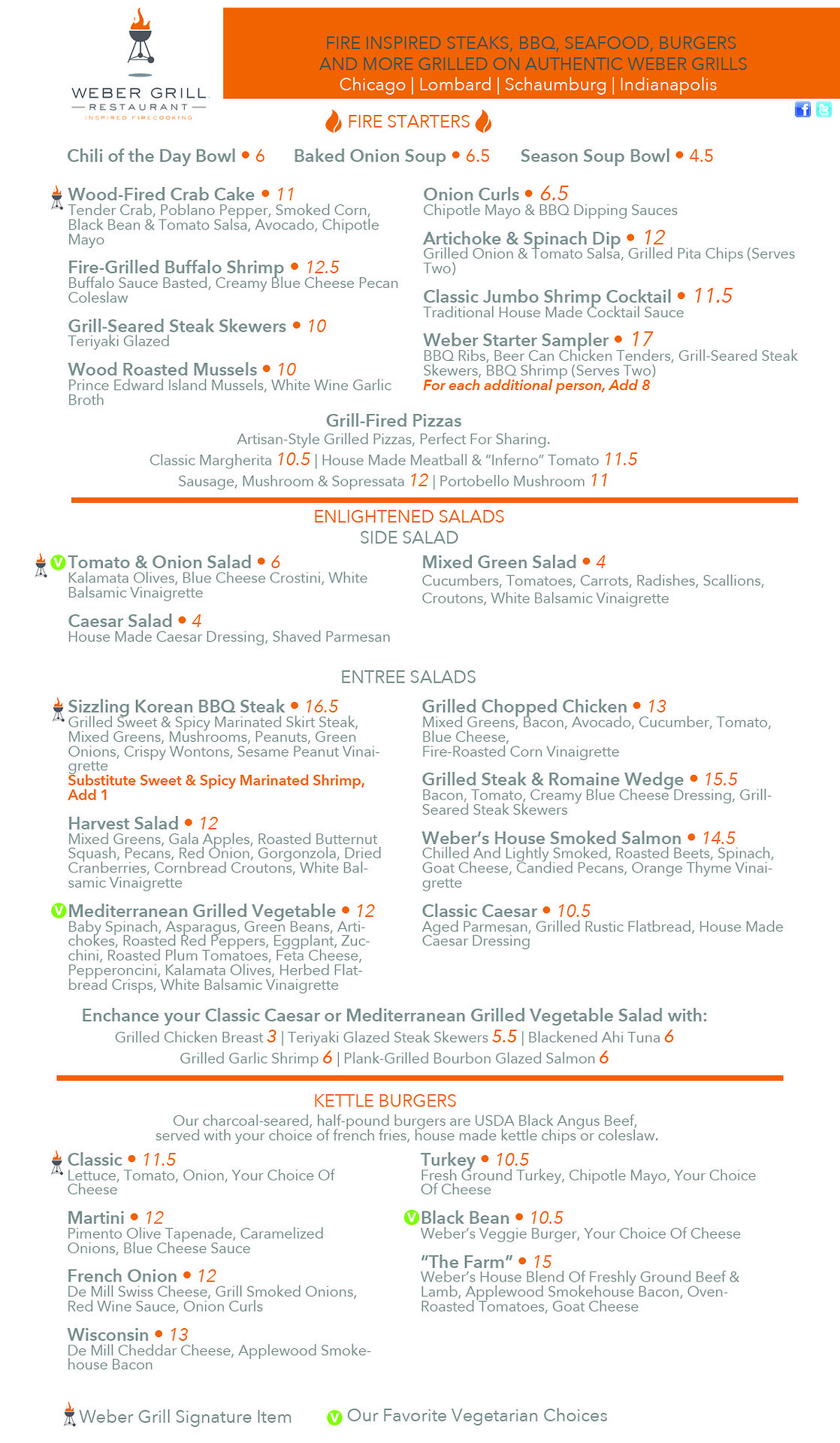 Menu Design Weber Grill Chicago Burgers And More Baked Onions