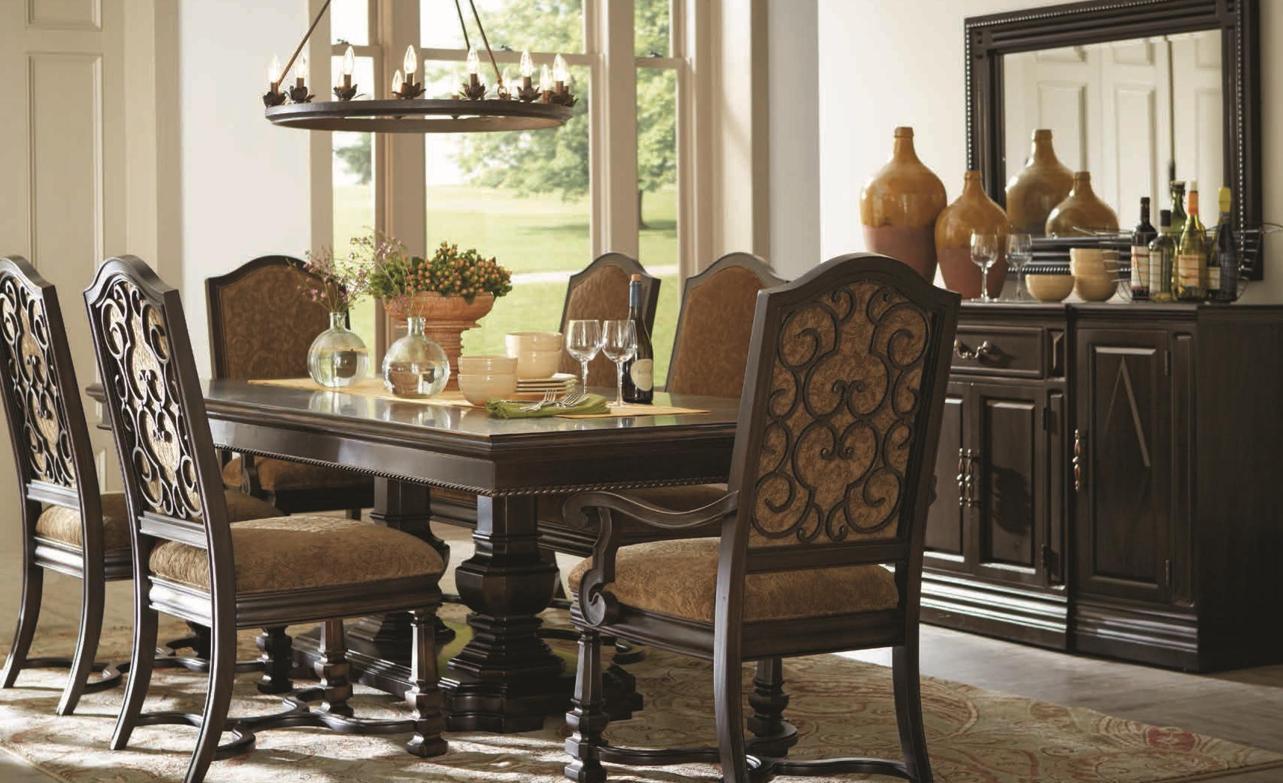 Marbella noir formal dining room group by art furniture