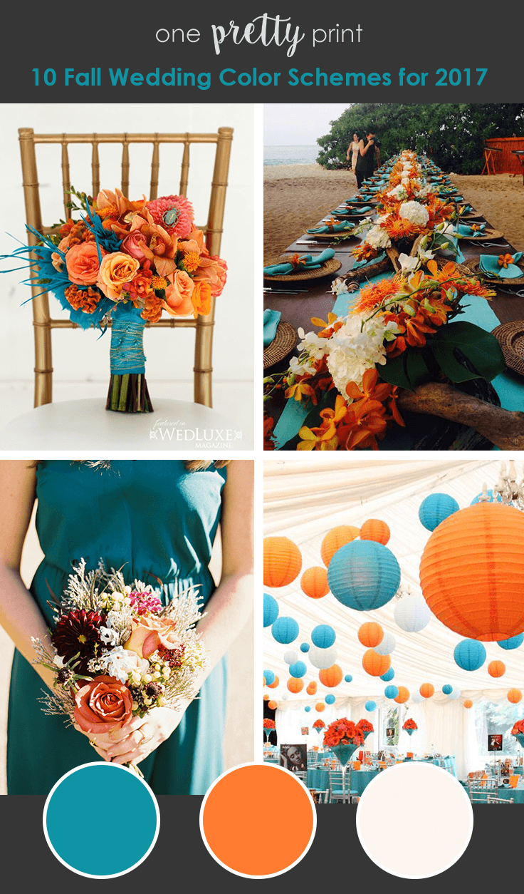 10 Amazing Wedding Color Palettes for Fall Summer
