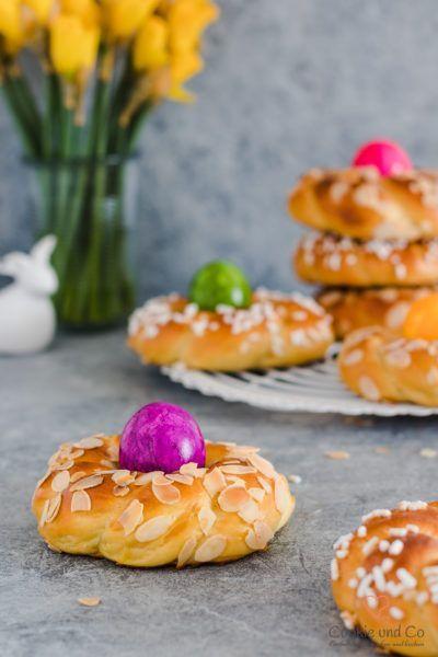 Osterkränze: Osternester aus Dinkel | Cookie und Co