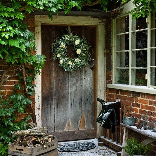 Country Christmas decorating ideas Wreaths Photo galleries and