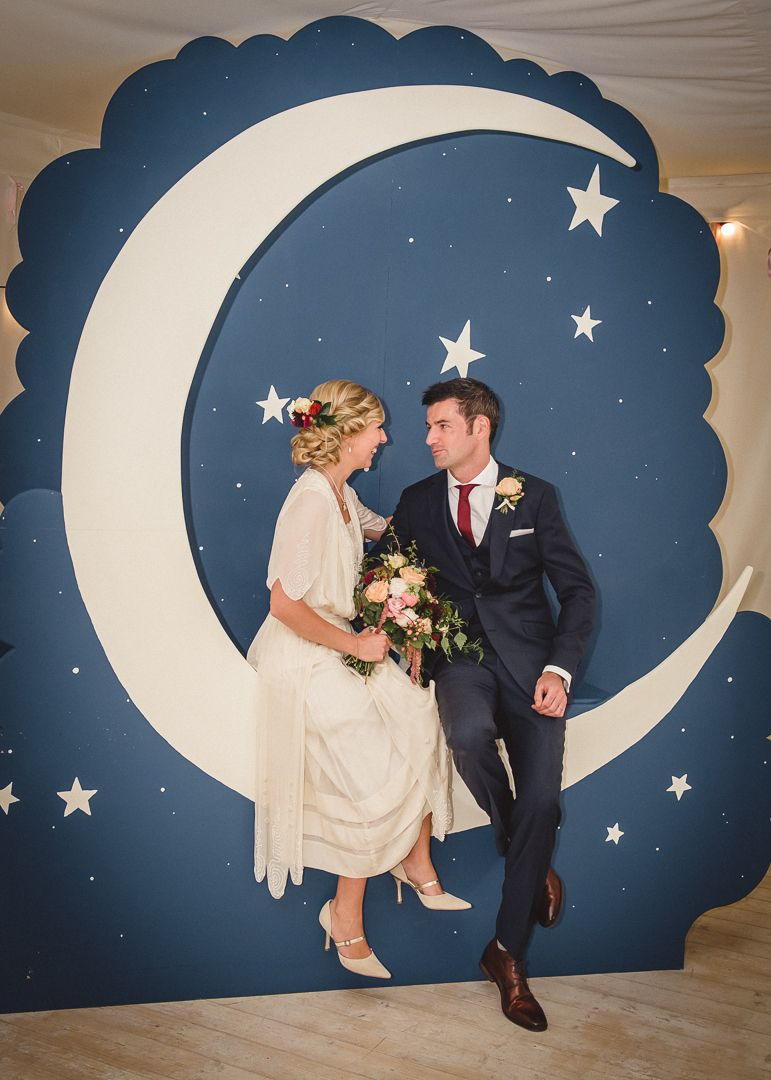 stunning moon photo booth for wedding edwardian paper moon theme