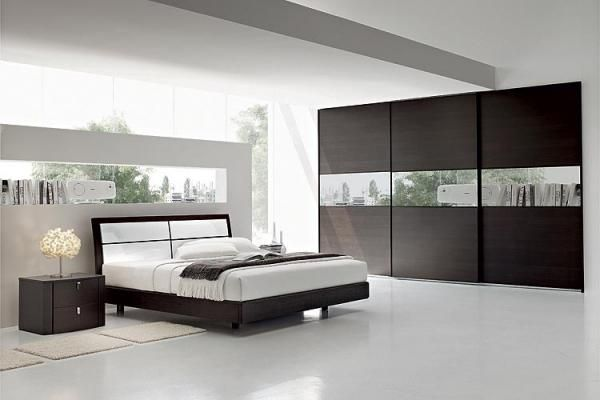 Chambre moderne blanche chambre coucher design for Voir chambre a coucher