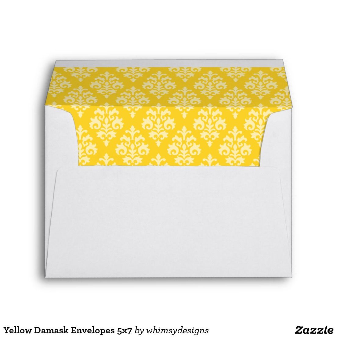 yellow damask envelopes 5x7 envelopes damasks and yellow