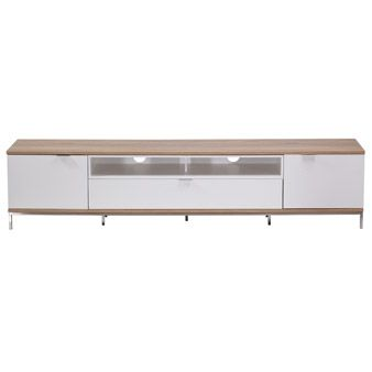 Alphason Chaplin ADCH2000 White / Light Oak TV Cabinet