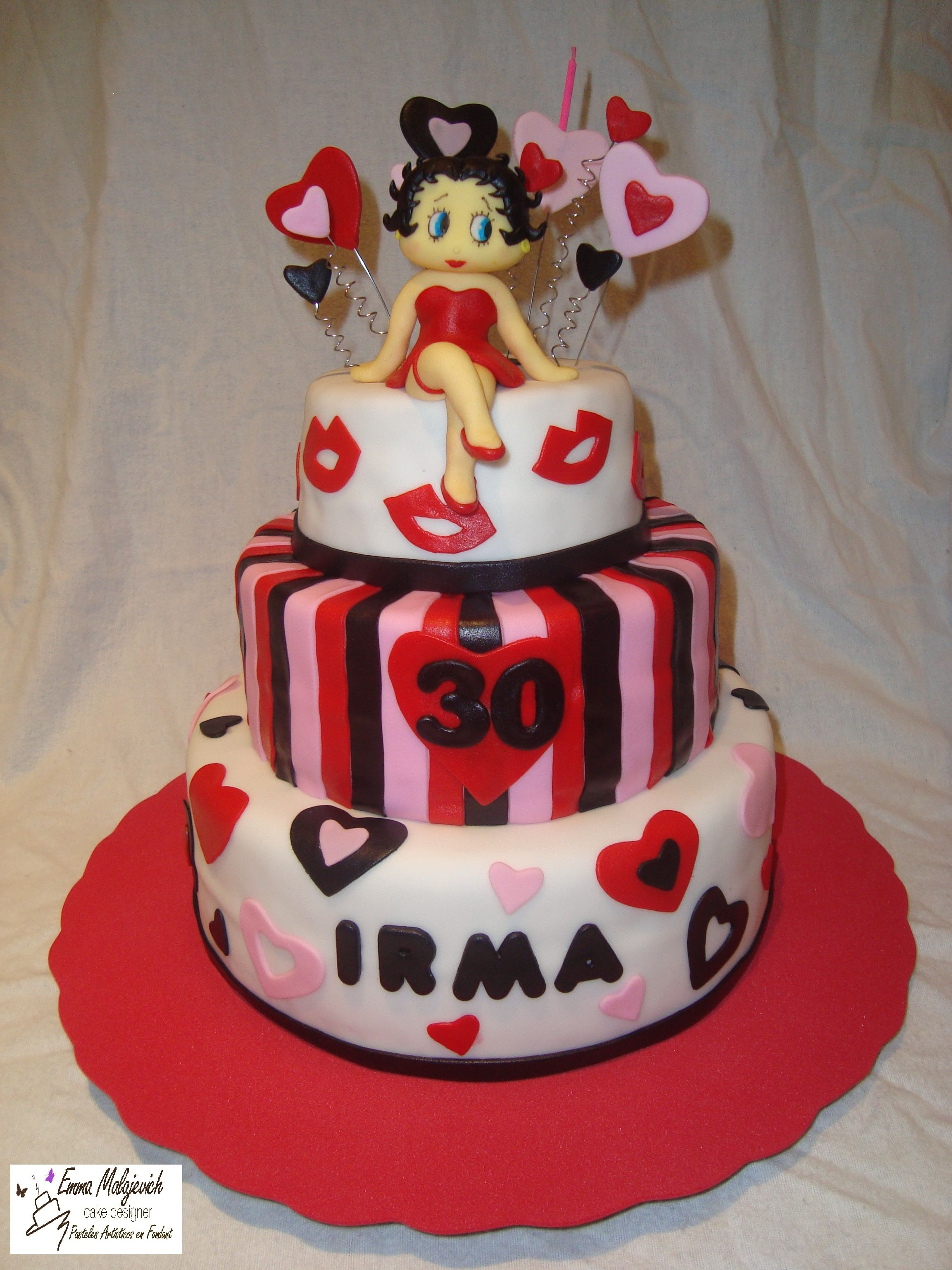 Betty Boop Cake With Images Themed Cakes 30 Birthday Cake