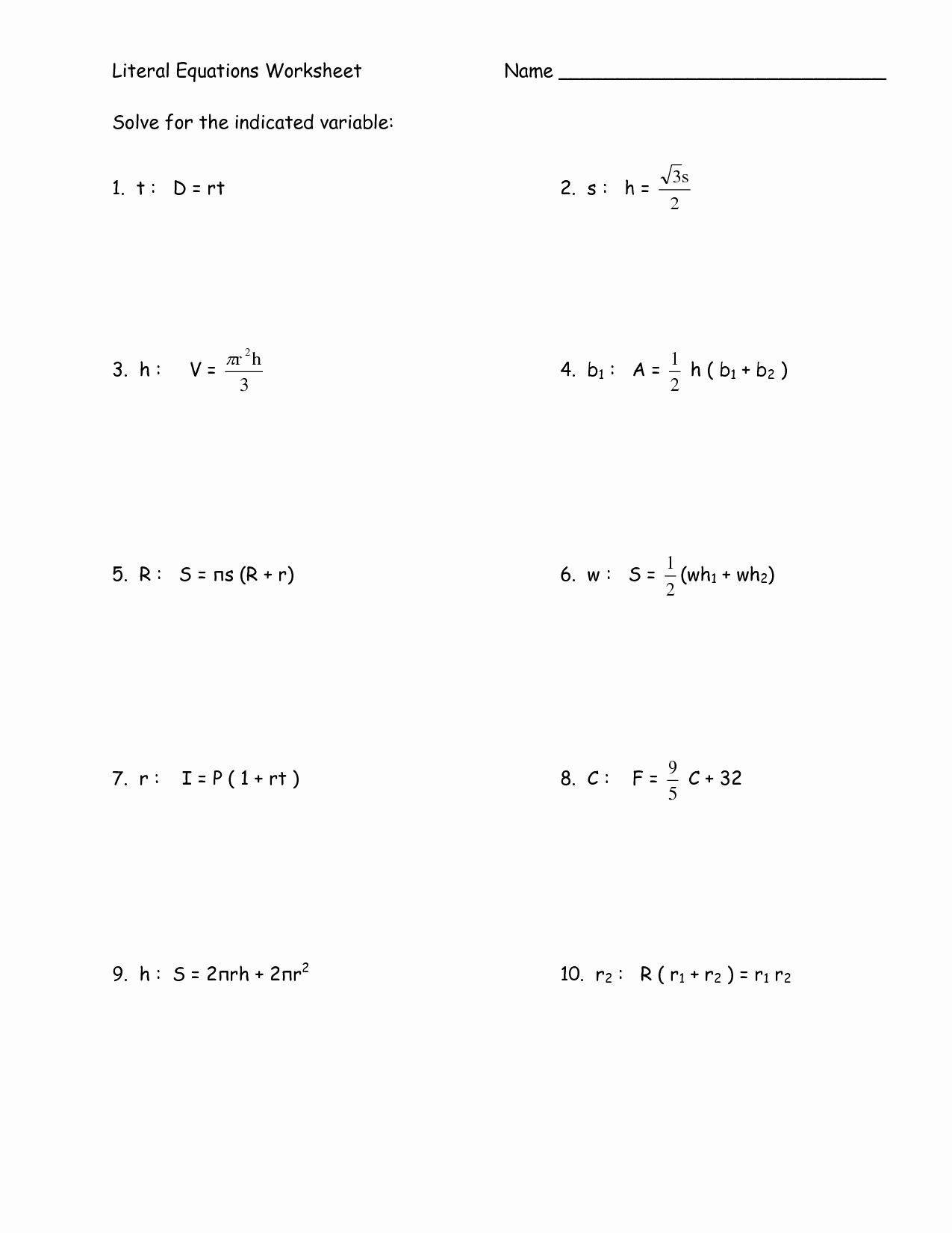 Newprime Systems Of Linear Equations Worksheet
