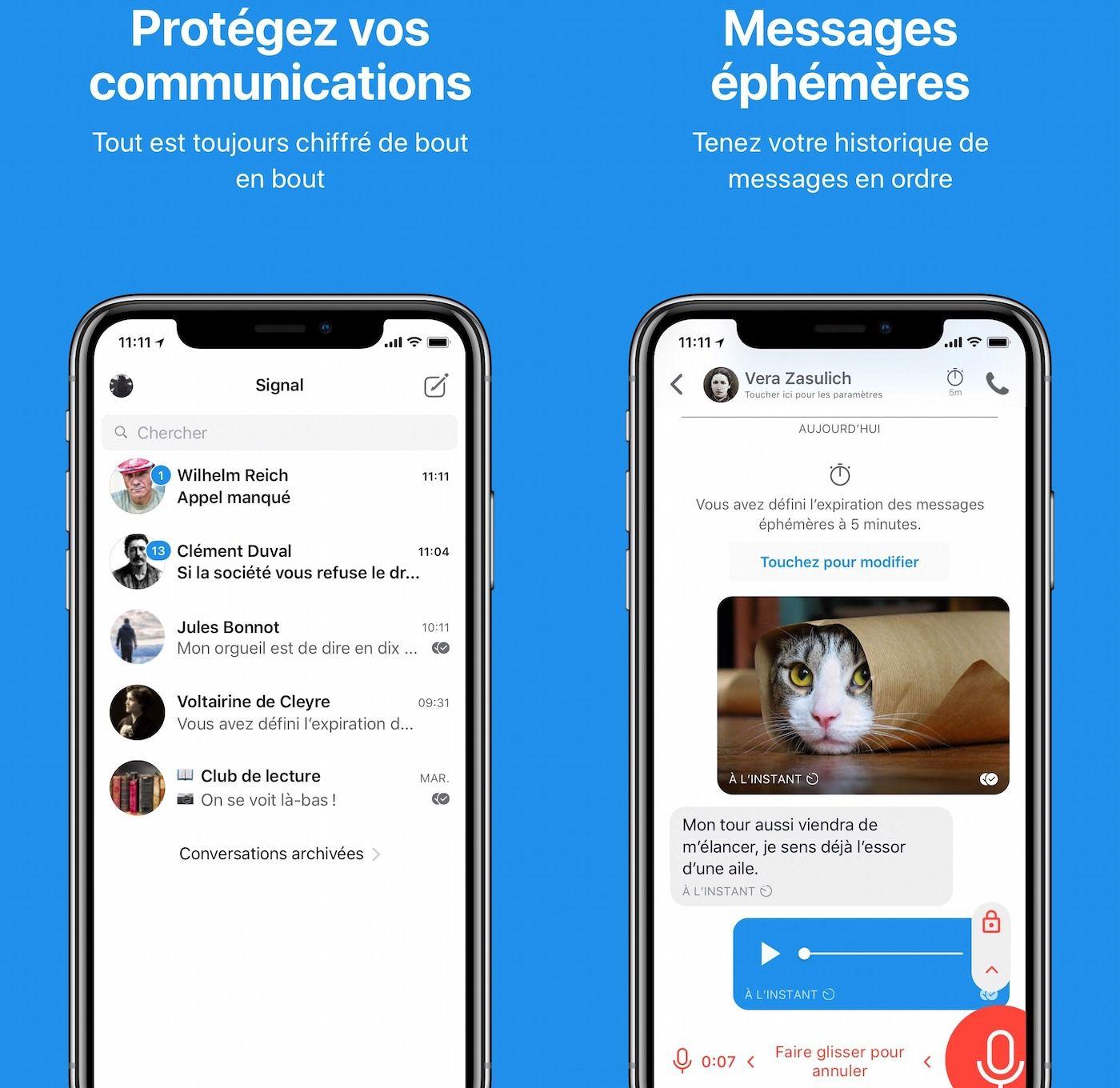 Vie privée iOS 13 embête aussi Signal et les autres apps