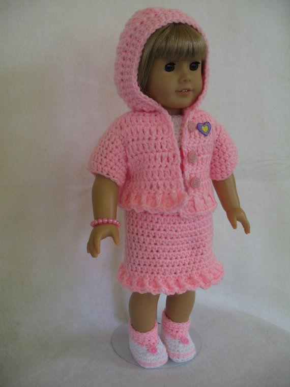 American girl crocheted Princess Hoodie by MimisDollyThings, $25.00 ...