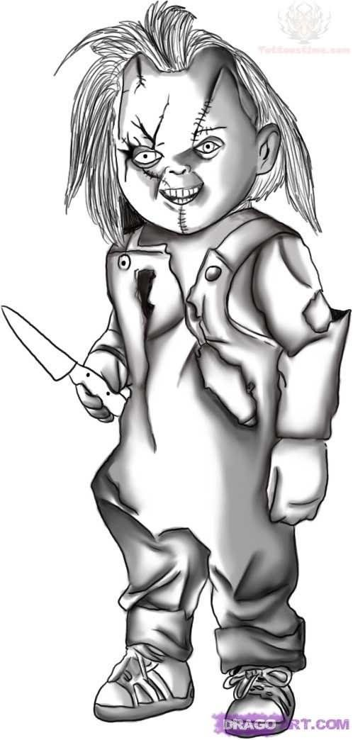 How to Draw Chucky from Child's Play - Halloween Drawings