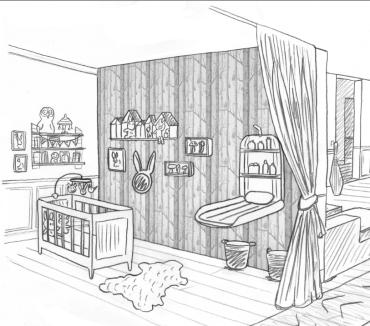 maison dessin chambre