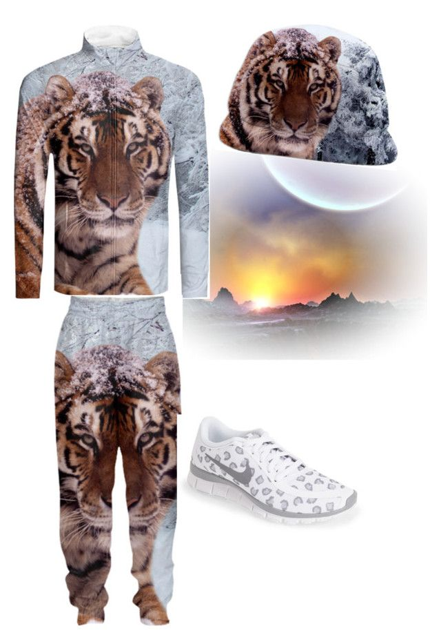"""""""Run like a tiger"""" by erikakaisersot ❤ liked on Polyvore featuring NIKE"""
