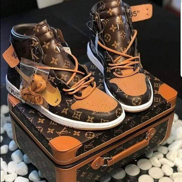 Saint Louis Custom Printed High-Top Sneakers