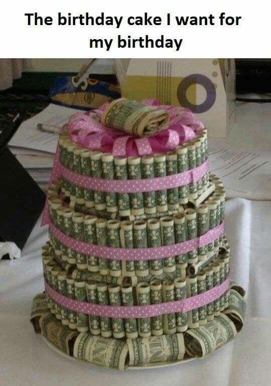 Money Birthday Cake   Birthday Party Ideas Pinterest - Money birthday cake images