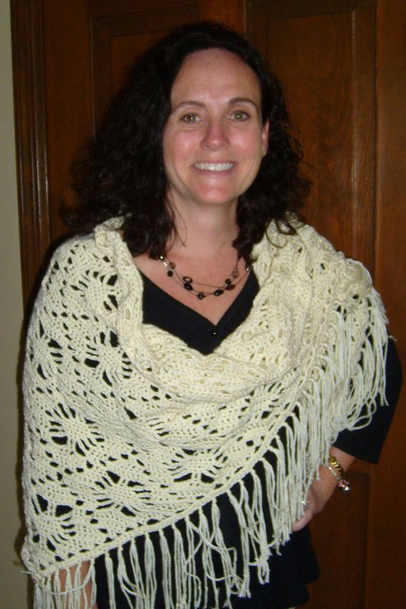 A shawl to treasure  handcrocheted in by stitchwhimsymarket