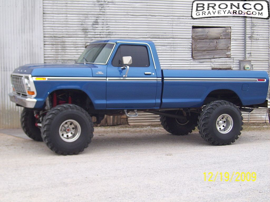 Two Tone 1979 Ford Truck Paint Job