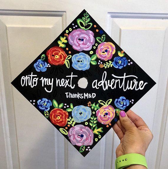 Painted Graduation Caps, Hand Painted Grad Cap, Custom Graduation Cap Art