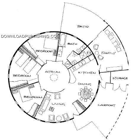 ROUND HOUSE CABIN PLANS BLUEPRINTS .PDF CONSTRUCTION LAKE
