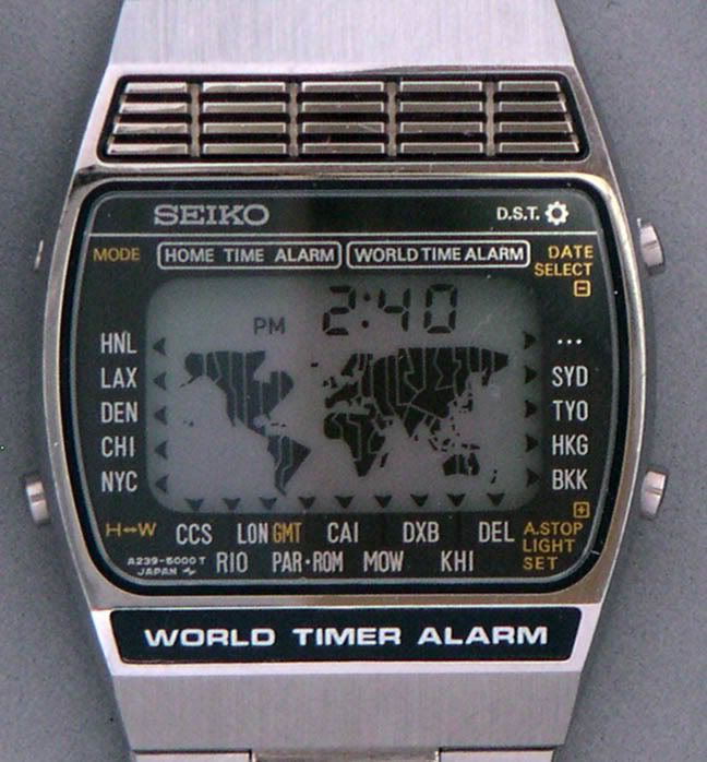 Seiko a239 5000 world timer alarm watch i wanted to have this badly as a kid it felt like for Thermo scanner watch