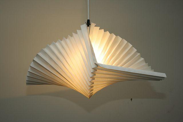 Spiral Shade Side View Paper Lantern Lights Origami Lights