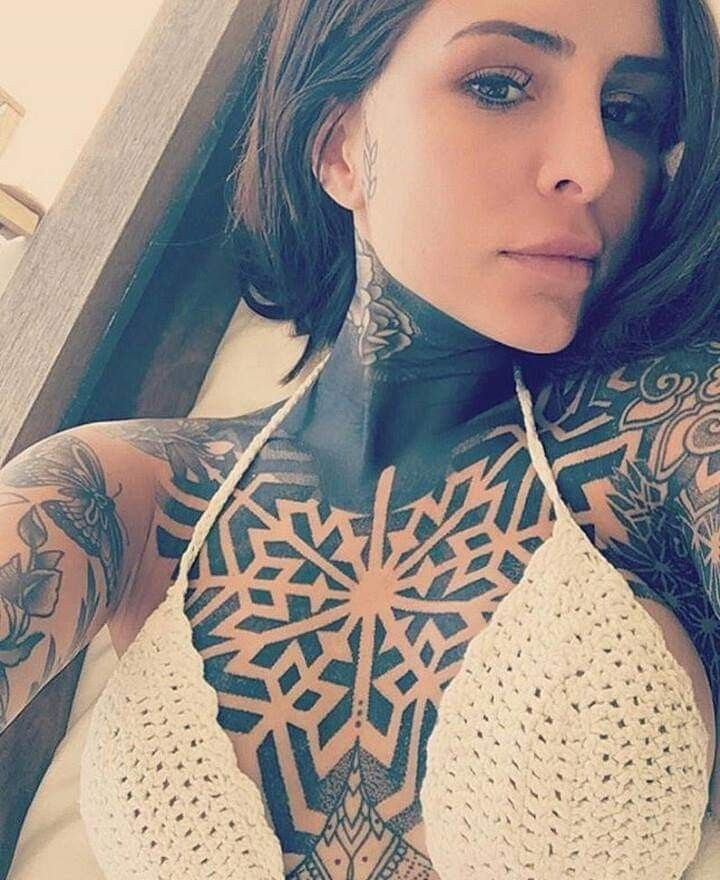 Pin by ELK on Tattoos Neck tattoos women, Chest tattoo