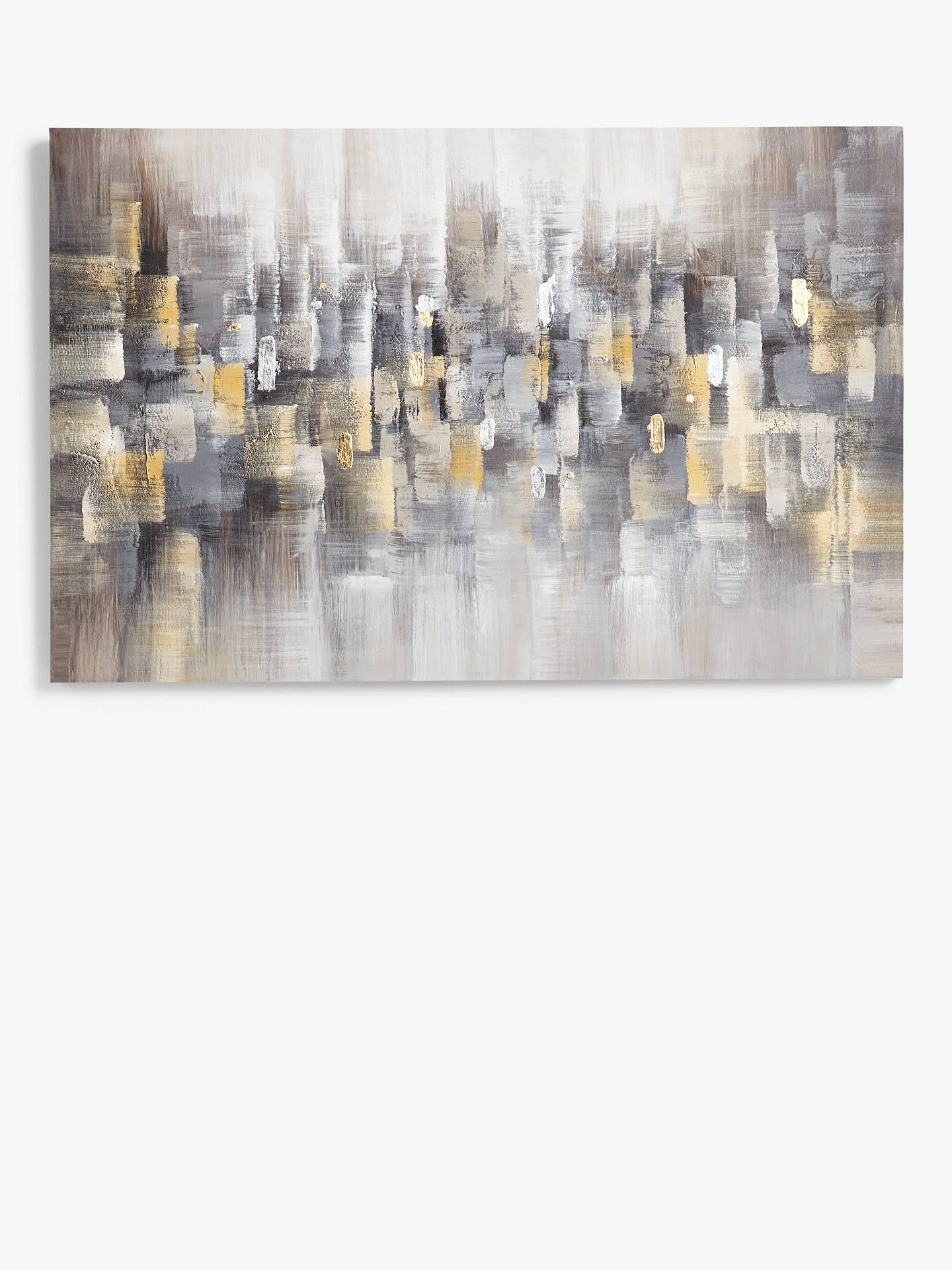 Buyzhen ping thora hand painted canvas 72 x 112cm grey online at johnlewis com
