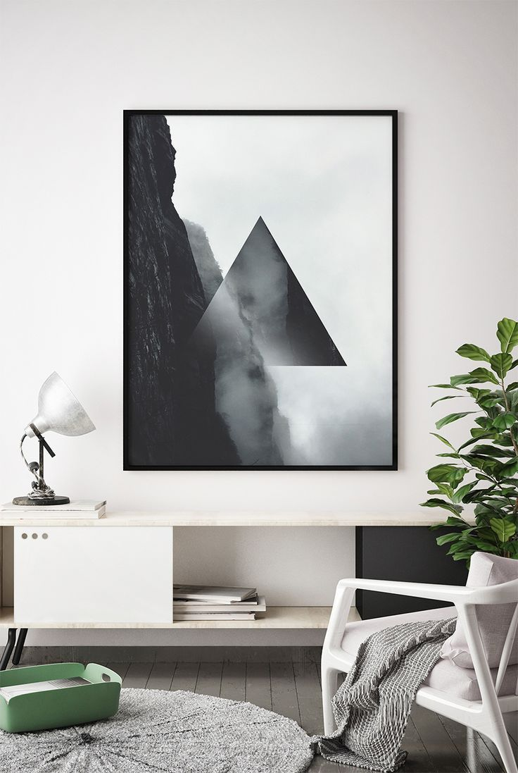 Geometric wall art geometric art minimalist art scandinavian art black and white modern wall art digital download abstract poster art in 2018