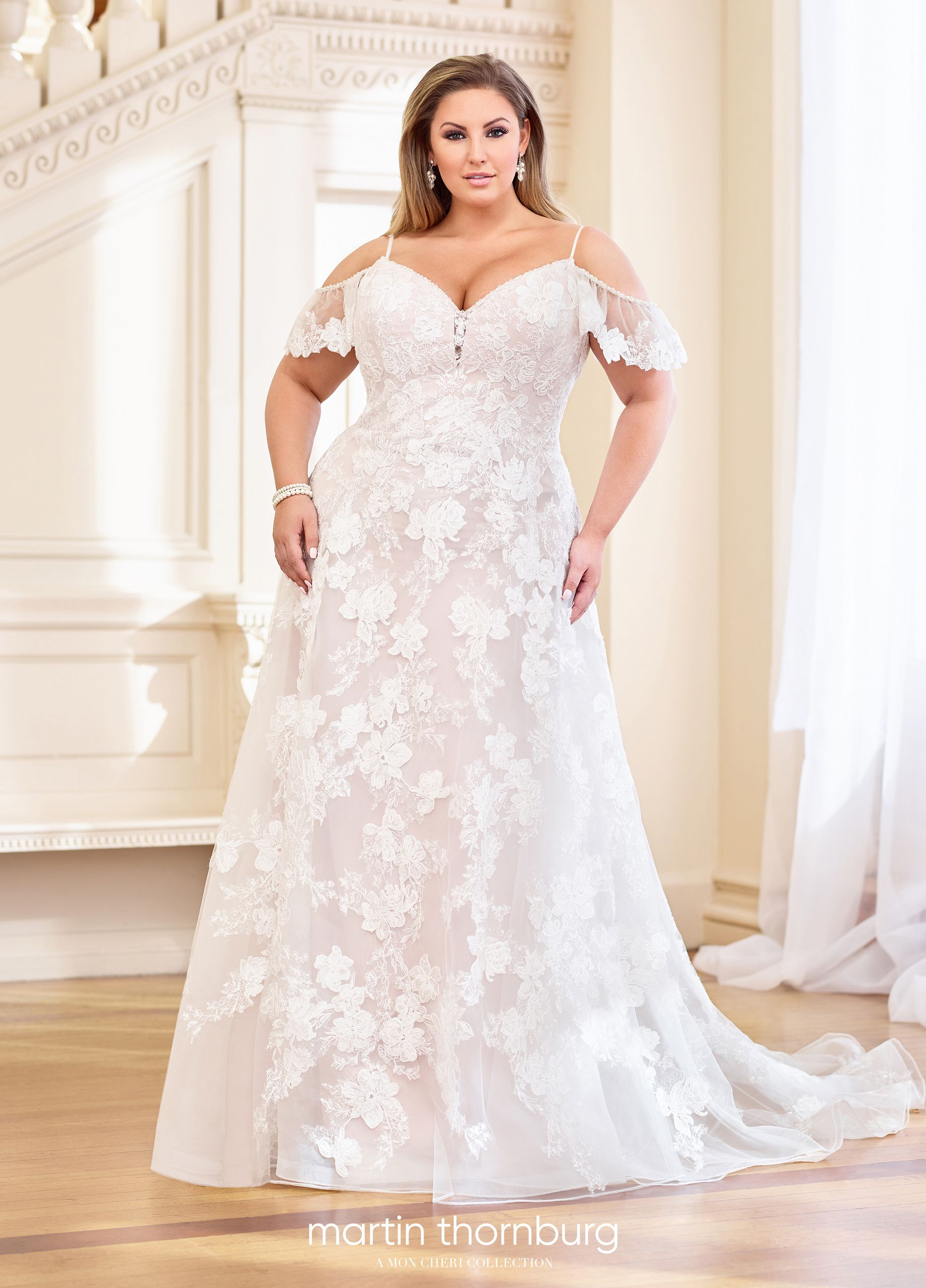 119265 Eleanor - Lace Floral Bohemian Wedding Dress - Mon ...