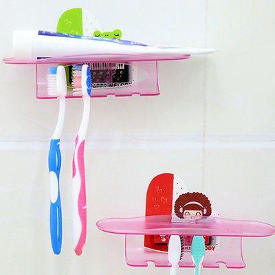 Images Of Kunststoff Zahnb rstenHalter Wall Holder Mount Stand Home Bathroom Organizer Neu
