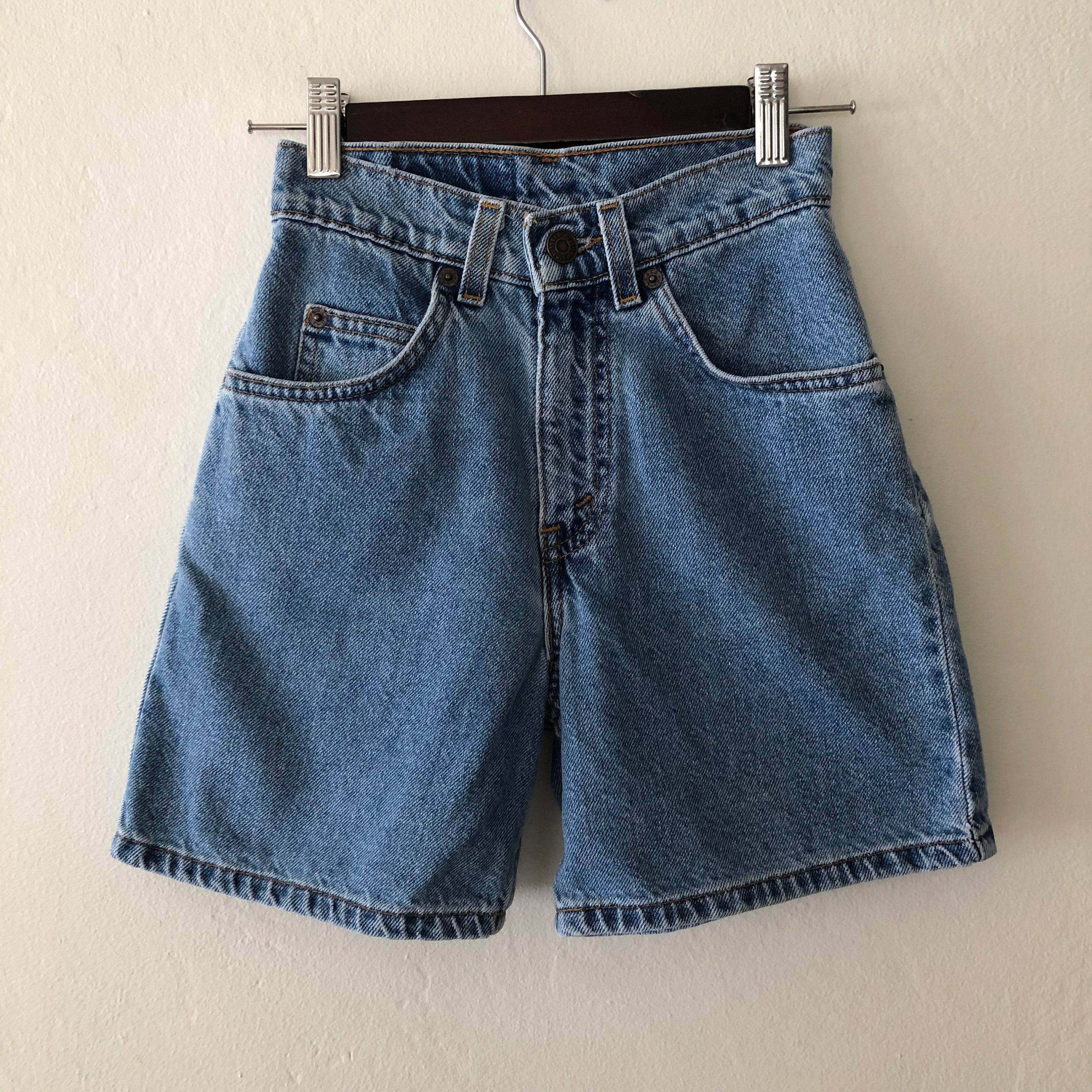 67ed0b94 Vintage Kids High Waist Orange Tab Levis Shorts, Vintage Girls High Waist  Shorts, Vintage