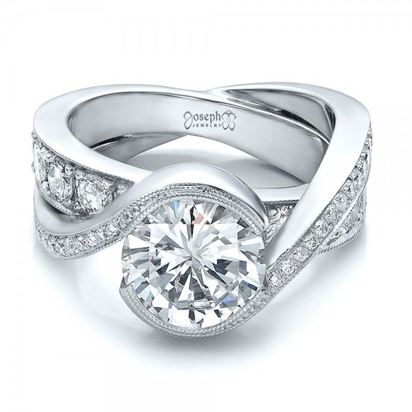Diamond Custom Interlocking Engagement Ring