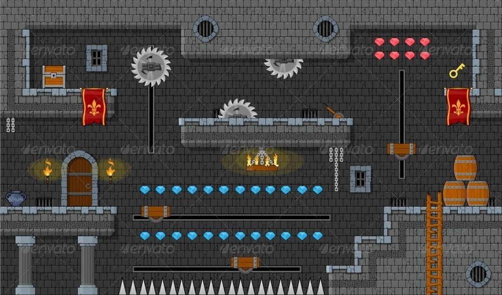 Platformer Game Tile Set 9 Vector game, 3d design