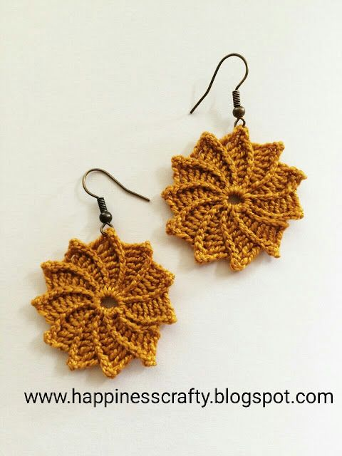Spiral flower earrings free crochet pattern happiness crafty spiral flower earrings free crochet pattern happiness crafty dt1010fo
