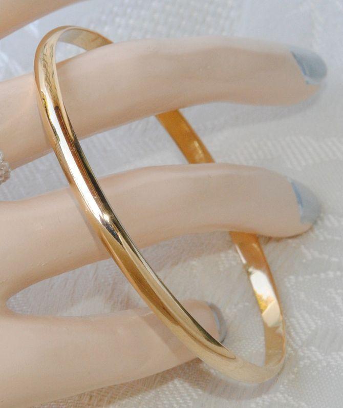 magnifique bracelet jonc en or massif
