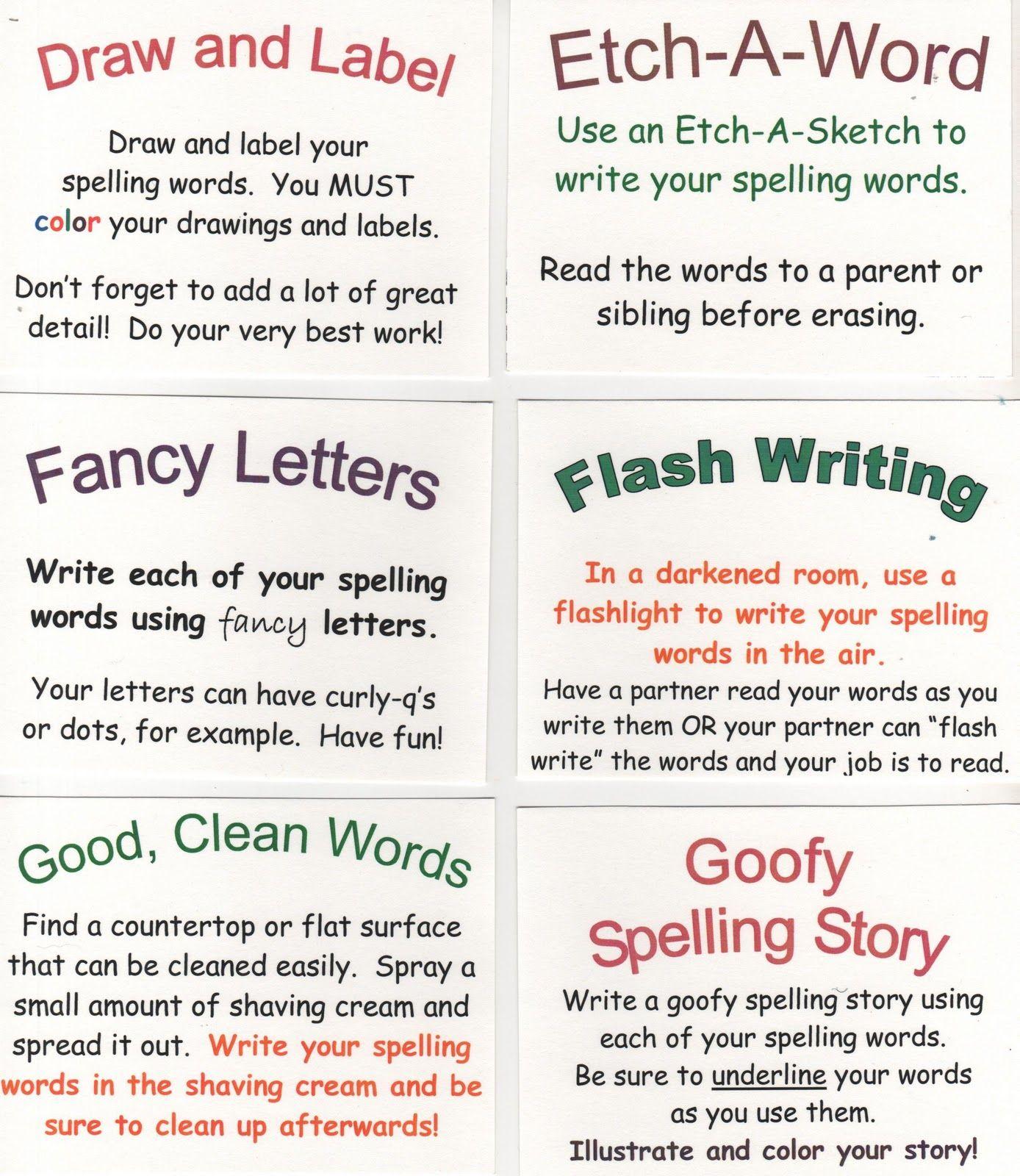 72 Spelling Ideas