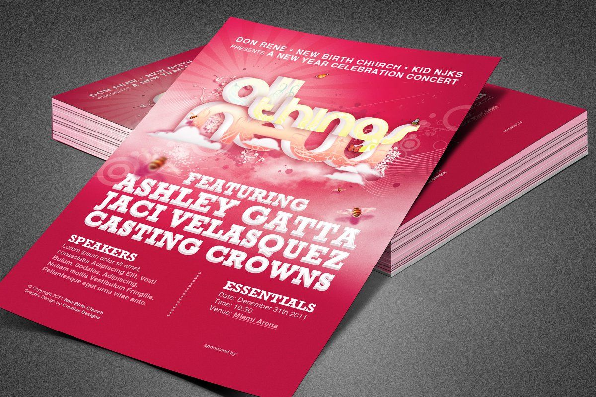 All Things New Church Flyer Template in 2020 Flyer