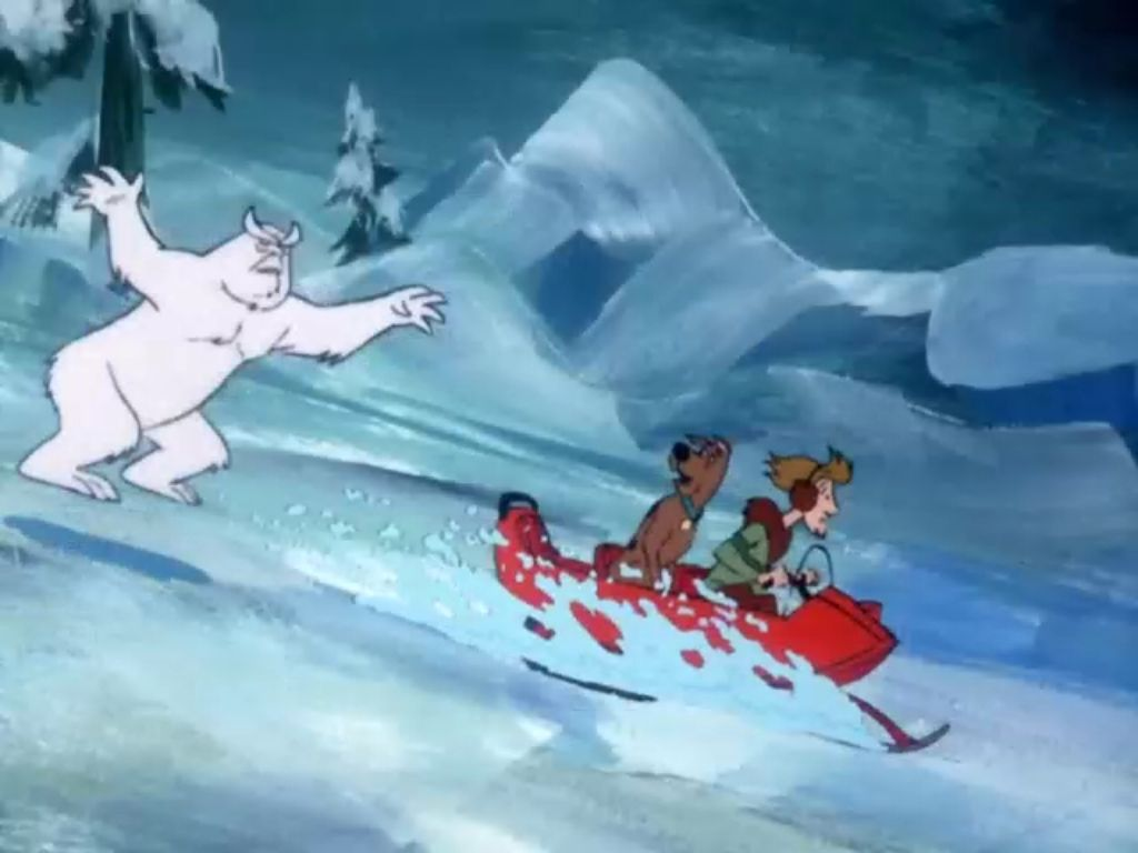 52 best scooby doo images on pinterest scooby doo where scooby and shaggy driving a snowmobile away from the snow ghost