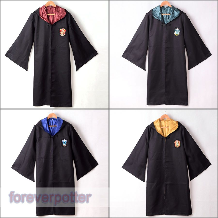 1pc Adult Gryffindor/Slytherin/Hufflepuff/Ravenclaw Robe Cloak Cape