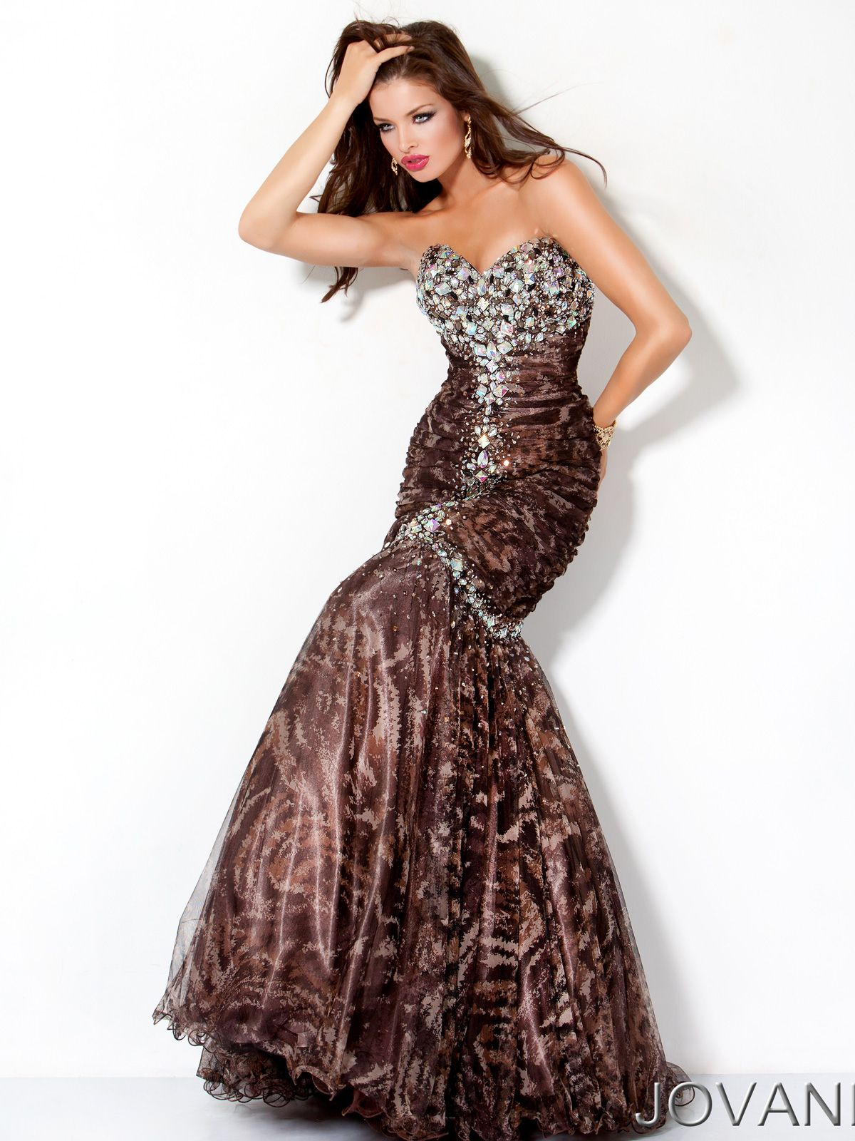 Striking sequin prints prom evening dress Jovani 172203. Revamp your ... a8f01260c